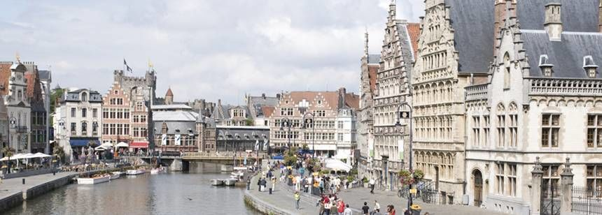 Take a boat trip through historic Ghent