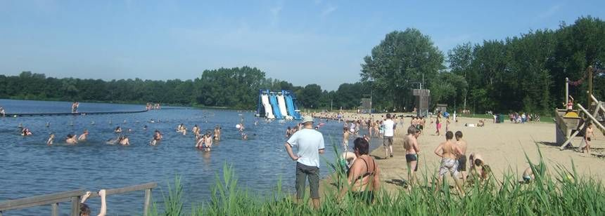 Beach Water Sports Activities at the Blaarmeersen Campsite, Belguim