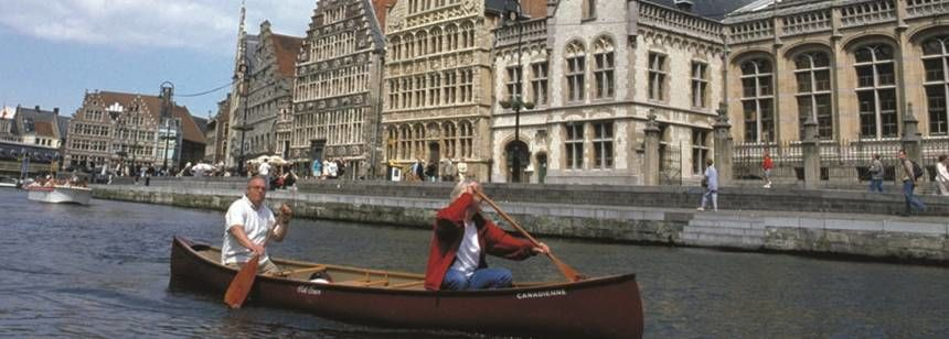 Paddle your own canoe on the Ghent canals