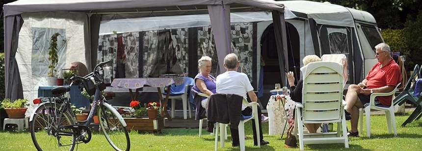 Relaxing on your pitch at Camping Blaarmeersen, Ghent, Belgium