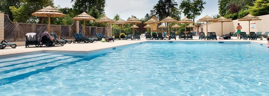 ... France The Swimming Pool And Terrace At At Camping Chateau De  Lu0027Eperviere, Burgundy ...