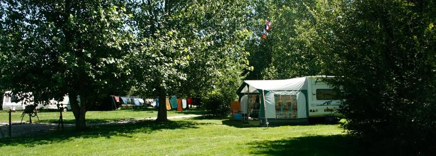 Secluded Grass Pitches at the Les Ripettes Campsite, France