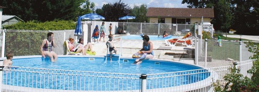 Swimming Pool and Water Sports Activities at the Les Ripettes Campsite, France
