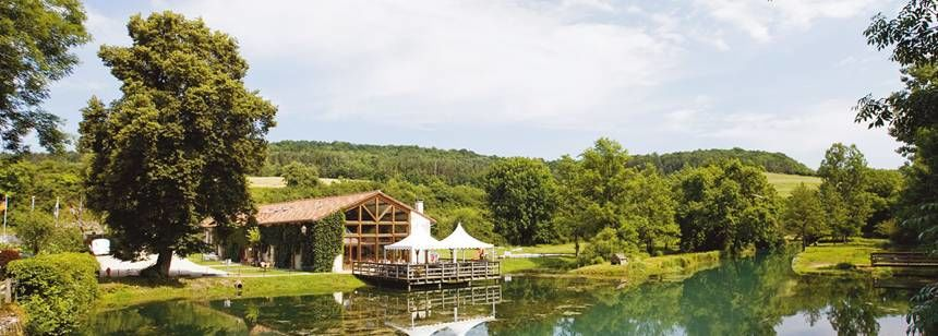 Lake and Facilities at the La Forge De Sainte Marie Campsite, France