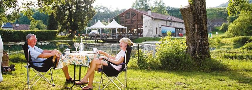 Relaxing in the Scenic Surrounds of La Forge De Sainte Marie Campsite, France