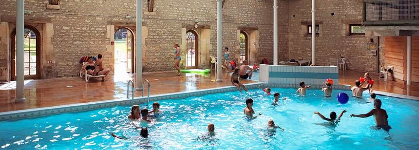 Swimming Pool Facilities and at the La Forge De Sainte Marie Campsite, France
