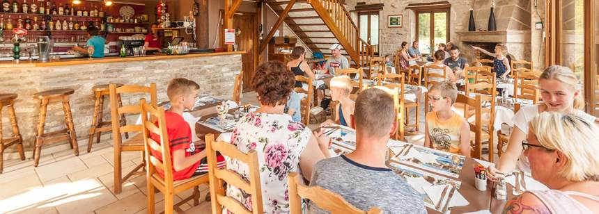 The delightful restaurant at Camping La Forge de Sainte-Marie, near Joinville, Champagne-Ardenne, France