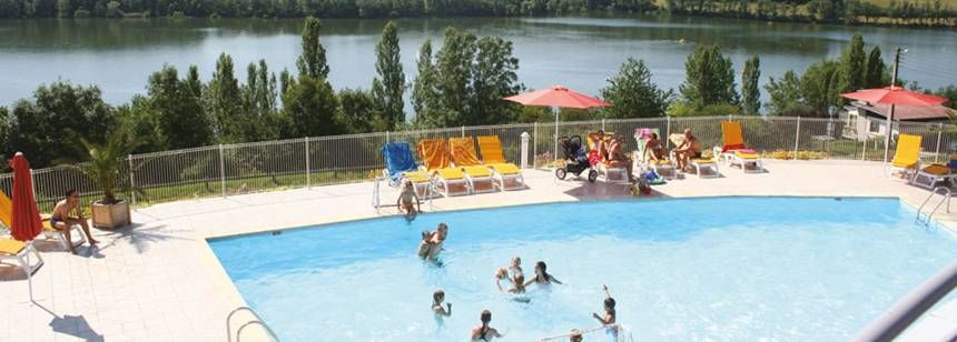 Swimming Pool at the Lac De La Liez Campsite, France