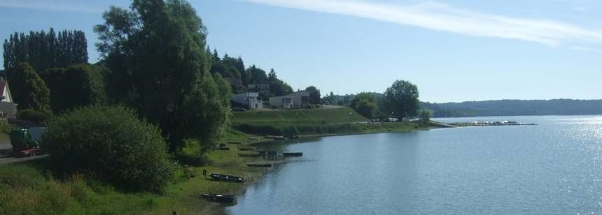 Scenic Views of the Lake at the Lac De La Liez Campsite, France