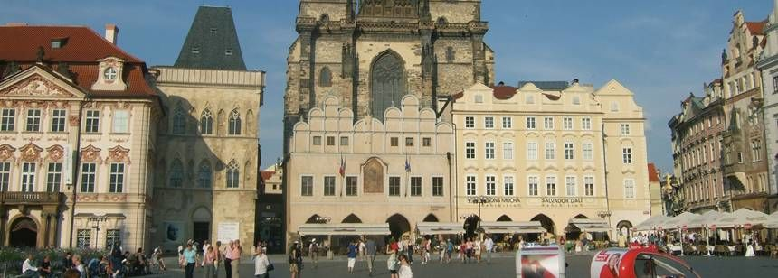 Historic City Near the Oase Praha Campsite, Czech Republic