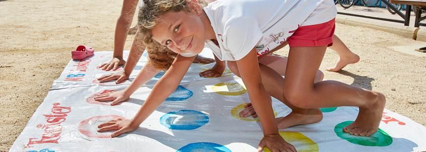 Fun and games at Camping Aquarius, Sant Pere Pescdor, Costa Brava, Spain