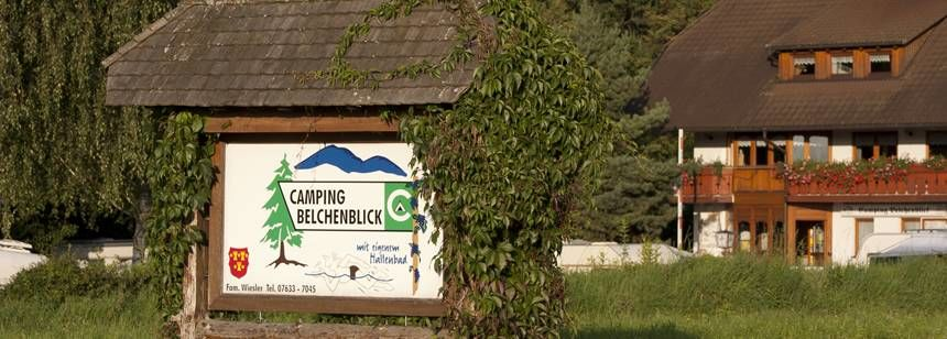 The entrance to Camping Belchenblick Campsite, Germany