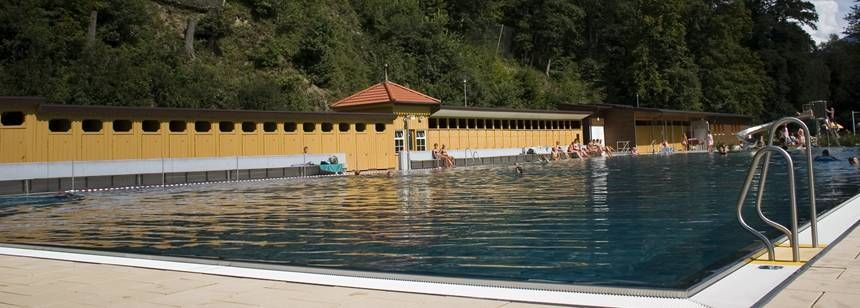 Swimming Pool adjacent to Camping Belchenblick Campsite, Germany