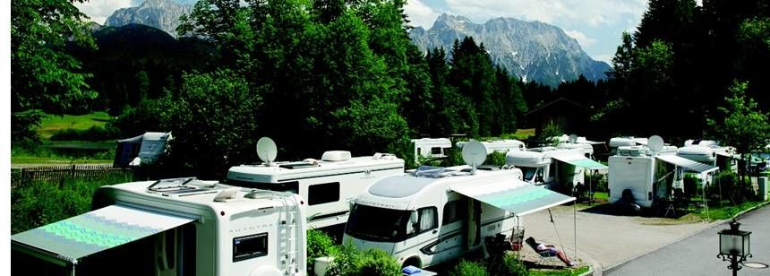 Pitches and mountain views at camping Tennsee in Germany
