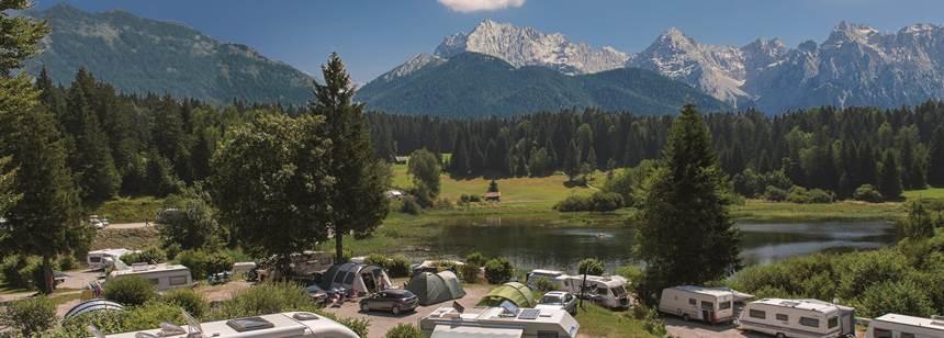 Glorious mountain views at Camping Tennsee, Bavaria, Germany
