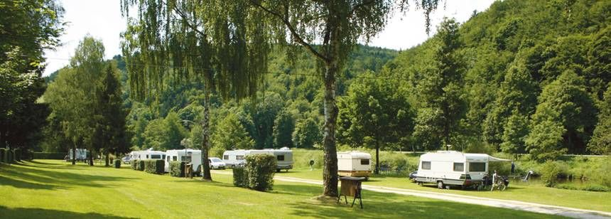 Grass Pitches in the Scenic Naabtal Pielenhofen Campsite, Germany