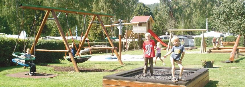 Childrens Play Area and Activities at the Naabtal Pielenhofen Campsite, Germany