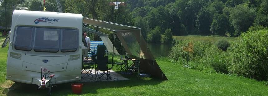 Grass Pitches in the Scenic Surrounds of Naabtal Pielenhofen Campsite, Germany