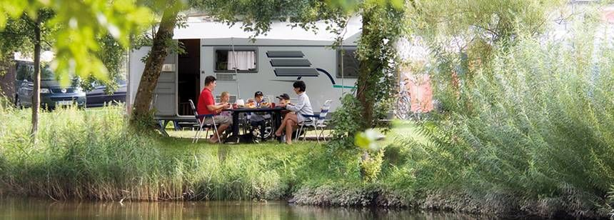 Grass Pitches Beside the River at the Gitzenweiler Hof Campsite, Germany