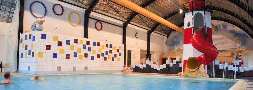 The indoor swimming pool at Camping Koningshof, Rijnsburg, the Netherlands