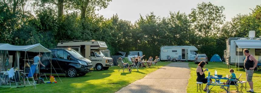 Typical pitches, Camping Koningshof, Rijnsburg, Netherlands