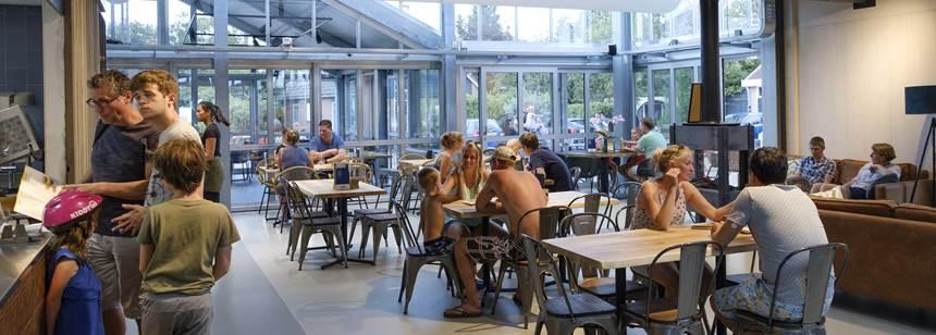 Restaurant, Camping Koningshof, Rijnsburg, The Netherlands