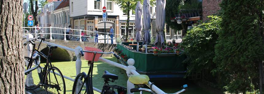 Delft city centre, just a mile from camping Delftse Hout.