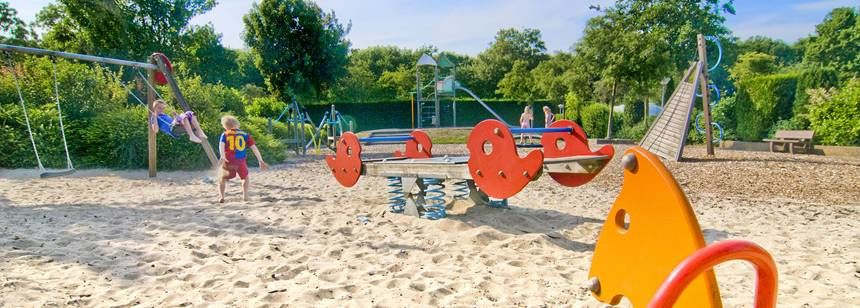 The children's play area at camping Delftse Hout, Delft, Holland