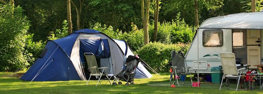 Pitches at camping Delftse Hout, Delft, Netherlands