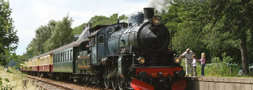 Steam Train and Schip op Geul Station close to  Vinkenhof Campsite, the Netherlands