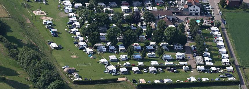 Aerial view of Camping Vinkenhof, the Netherlands