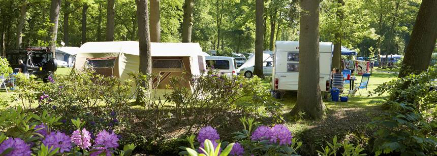 Typical pitches, Duinrell campsite, Wassenaar, the Netherlands