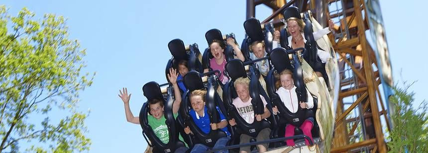 Roller Coaster at the Duinrell Campsite, the Netherlands