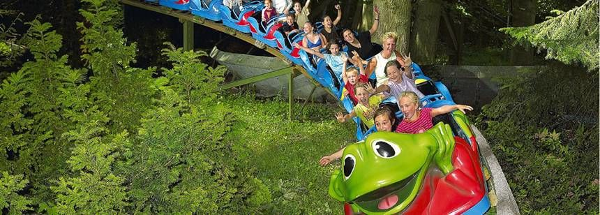 Childrens Roller Coaster at the Duinrell Campsite, the Netherlands