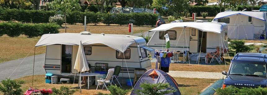 Grass Pitches in the Scenic Domaine D'Oléron Campsite, France