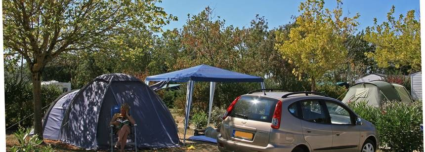 Secluded Grass Pitches at the Domaine D'Oléron Campsite, France