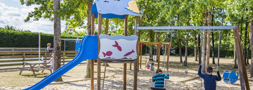 Playground at Camping La Domaine d'Oléron, south west France