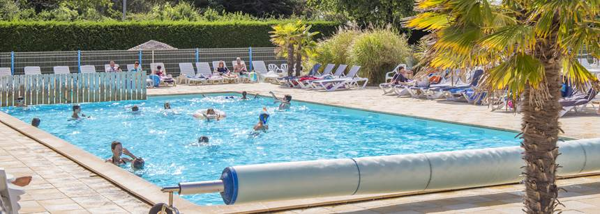 Swimming pool at Camping La Domaine d'Oléron, south west France