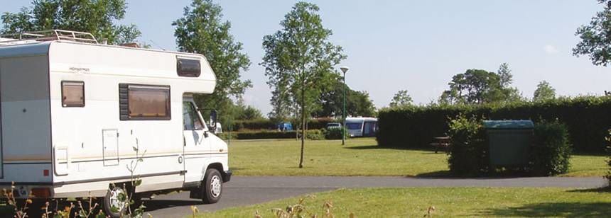 Motorhome Arriving at the Camac Valley Campsite, Irel and