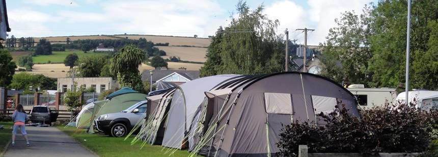 Tents on site at River Valley campsite, Ireland