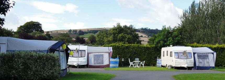 Countryside views at River Valley campsite, Ireland