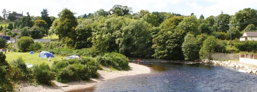 Pitches Beside the River at the Hidden Valley Campsite, Irel and