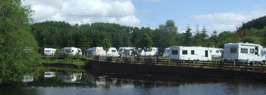 Pitches On the River at the Hidden Valley Campsite, Irel and