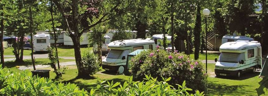 Secluded Grass Pitches at the Fossa Campsite, Irel and