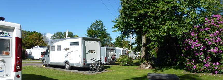 Pitches at Fossa Caravan and Camping Park, Killarney, Co. Kerry, Ireland