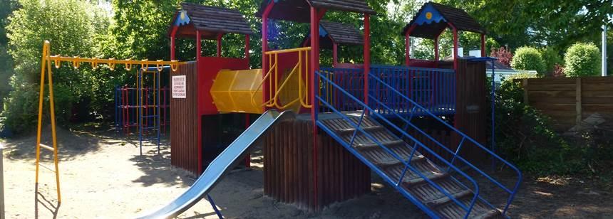Play area at Fossa Caravan and Camping Park, Killarney, Co. Kerry, Ireland
