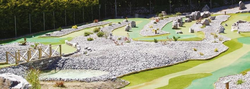 Childrens Play Area and Crazy Gold Course at the Cong Campsite, the Netherlands