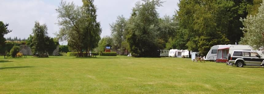 Some of the Many Grass Pitches at the Ballinacourty House Campsite, Irel and