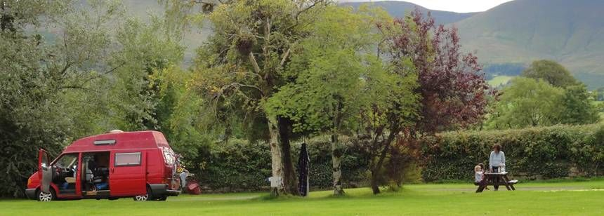 Mountain views at Camping Ballinacourty House | Ireland