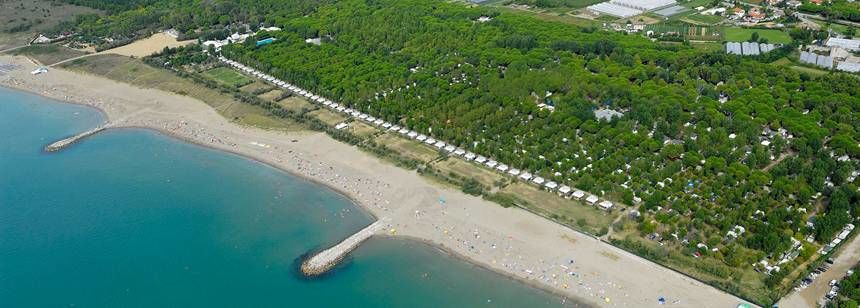 Beach Beside Ca'Savio Campsite, Italy